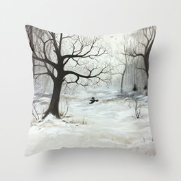 Winter meeting Throw Pillow