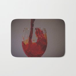 Drink wine to be happy Bath Mat