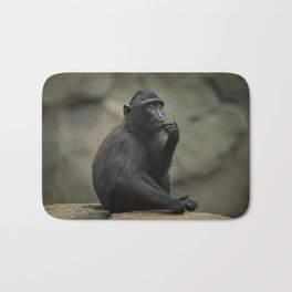 Celebes Crested Macaque Youngster Bath Mat