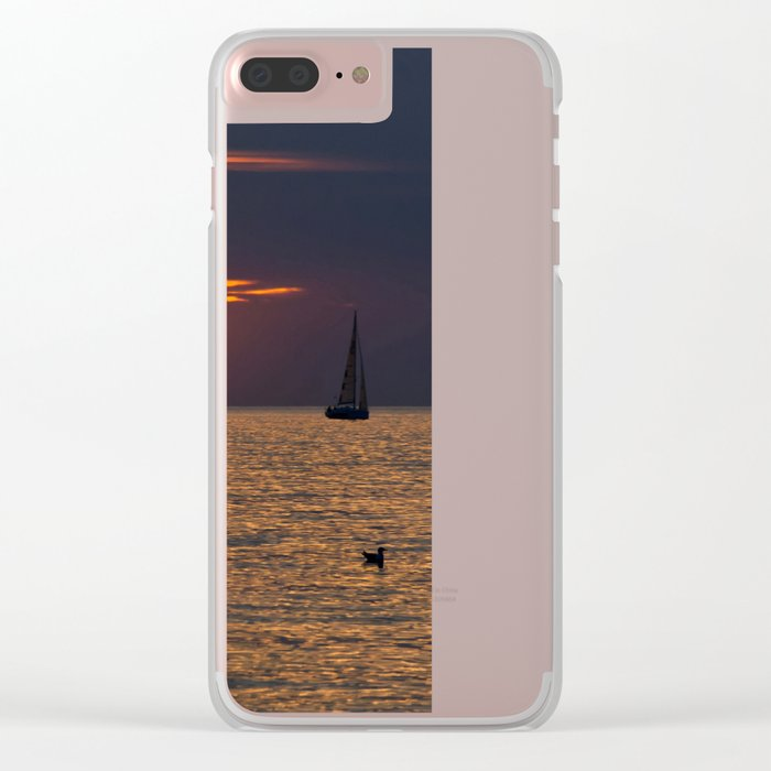 Summer sunset on the Baltic Sea Clear iPhone Case