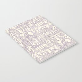 Ancient Greece purple pearl Notebook