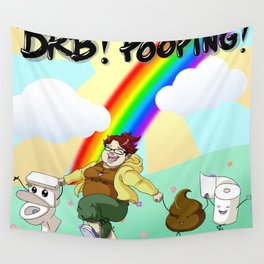 BRB! POOPING! Wall Tapestry