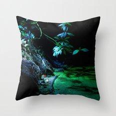 Leaf lighting Throw Pillow