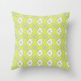 Fresh As A Daisy (Lime) Throw Pillow