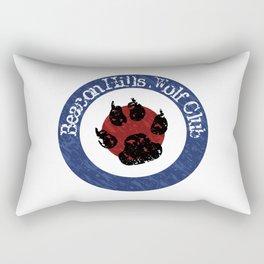Wolf Badge Rectangular Pillow