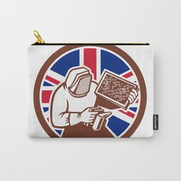 British Beekeeper Union Jack Flag Icon Carry-All Pouch