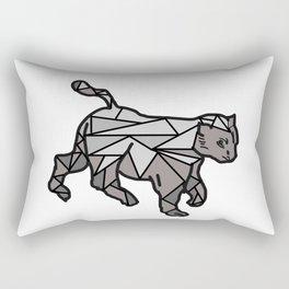 Geometric Cat and Lines Rectangular Pillow