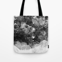 Amethyst Black and White Tote Bag