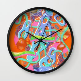 Alien Organism 13 Wall Clock