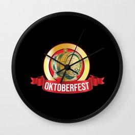 Oktoberfest Beer Mug Beer Keg Wall Clock