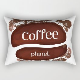 Welcome to the Coffee planet - I love Coffee Rectangular Pillow