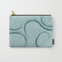 Octopus Tentacles Teal Carry-All Pouch