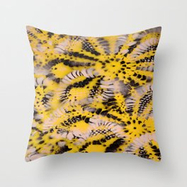 HoneyComb Flowers Throw Pillow