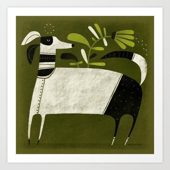 BLACK & WHITE PAJAMAS Art Print