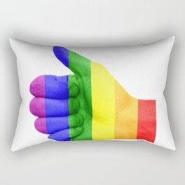 LGBT Thumbs Up Rectangular Pillow