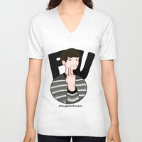 danisnotonfire V-neck T-shirts featuring #CaughtInTheAct by taetaejojo