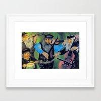 jewish Framed Art Prints featuring Jewish klezmer by Mimi Eskenazi