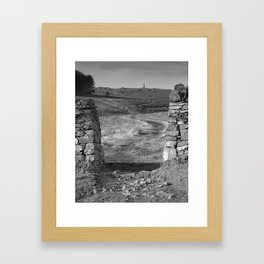 Pathway To A Memorial Framed Art Print
