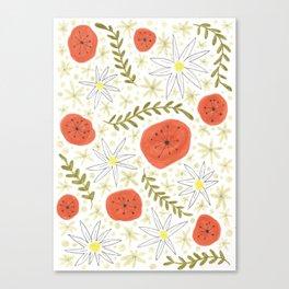 fun floral print Canvas Print