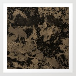 Taupe Marble Texture Art Print