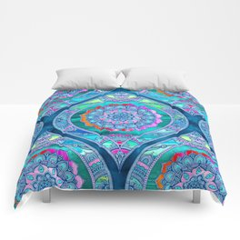 Radiant Boho Color Play Comforters