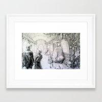 studio ghibli Framed Art Prints featuring Studio Ghibli Subway by Perri MacKenzie
