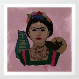 Frida-y Art Print