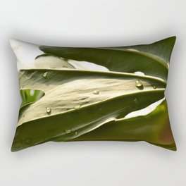 Sun Lit Green Life Rectangular Pillow