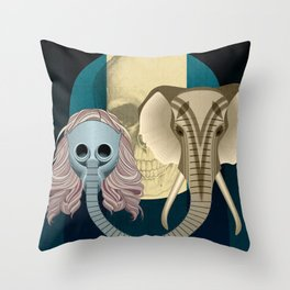Love in times of Ebola Throw Pillow