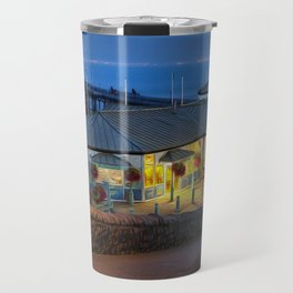 Mumbles Pier and Beach Hut Cafe Travel Mug