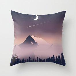 Misty Mountains. Throw Pillow