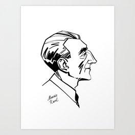 Maurice Ravel Art Print