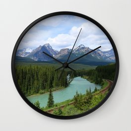 Morant's Curve - Bow Valley Parkway Wall Clock
