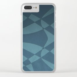 Wings and Sails - Blue and Light Blue Clear iPhone Case