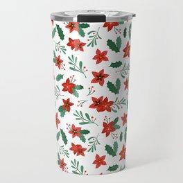 Christmas flower omela Travel Mug