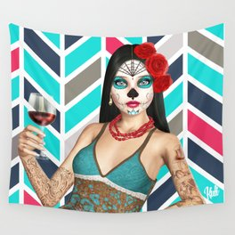 DOTD RED RED WINE REMIX Wall Tapestry