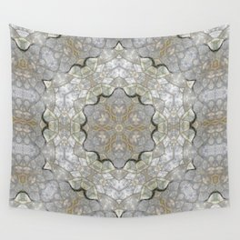 White and Gray Stone Mosaic Wall Tapestry