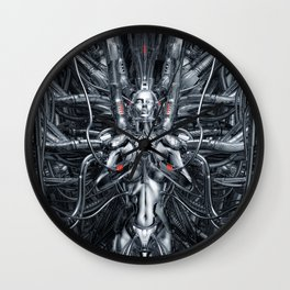 Maiden In The Machine Wall Clock
