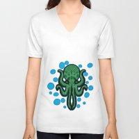 cthulhu V-neck T-shirts featuring Cthulhu by kelseycadaver