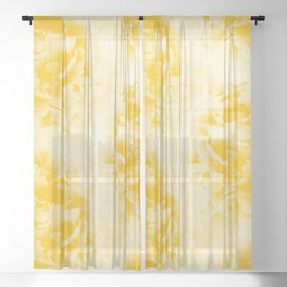 Yellow Peonies Dream #1 #floral #decor #art #society6 Sheer Curtain