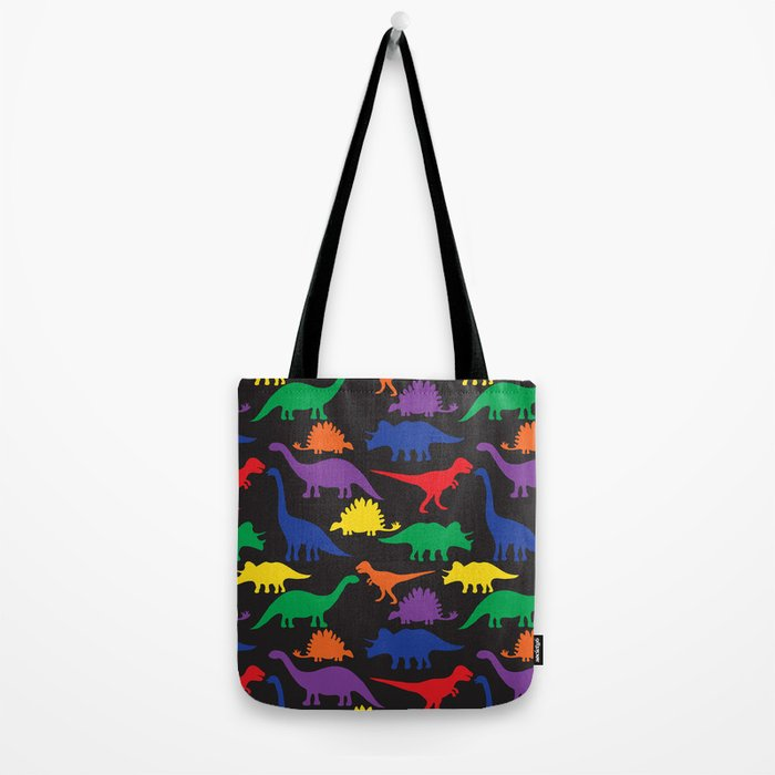 Dinosaurs - Black Tote Bag