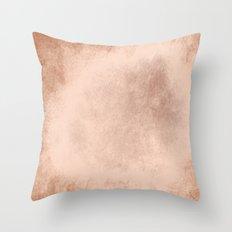 Brown grunge texture Throw Pillow