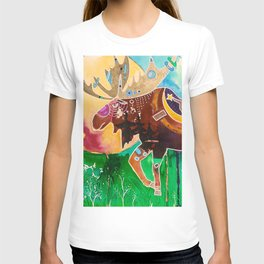 Fantastic Moose - Animal - by LiliFlore T-shirt