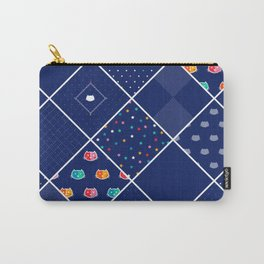Chromatic Cats Patchwork Carry-All Pouch