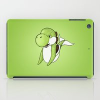 yoshi iPad Cases featuring Yoshi Whale by CoolBreezDesigns