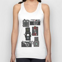 cameras Tank Tops featuring Cameras by Illustrated by Jenny