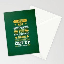 Lab No.4 - It's Not Whether You Get Knocked Down Inspirational Quotes Poster Stationery Cards