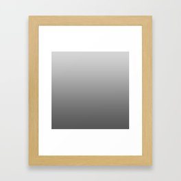 Grey Ombre Framed Art Print