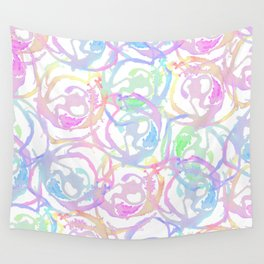 Colorful Watercolor Brushstroke Abstract Circles Wall Tapestry