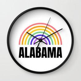 Alabama - Alabama Football - I love Alabama Wall Clock
